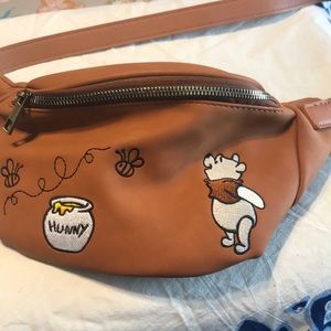 Leather colored Pooh Fanny pack
